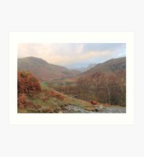 Autumn In The Little Langdale Valley Art Print