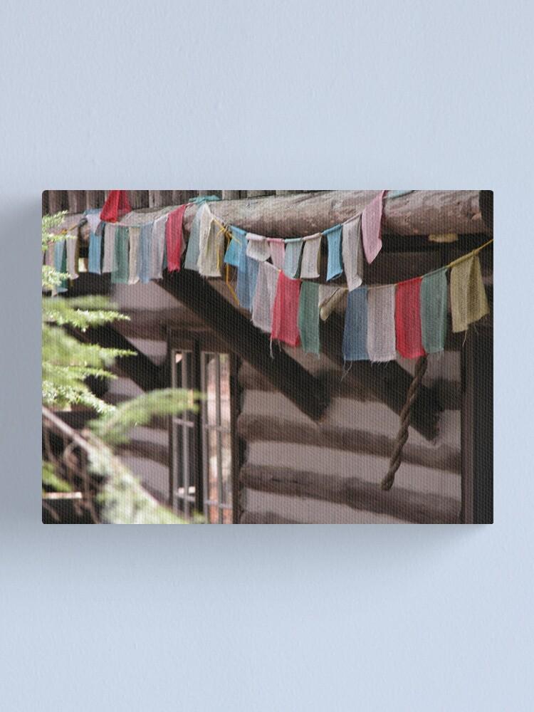 Alternate view of Prayer Flags Canvas Print