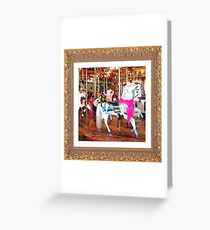Breast cancer Awareness Carousel Greeting Card