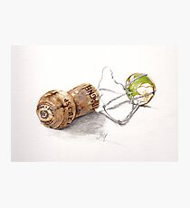 Champagne cork Photographic Print
