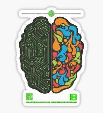 DEC 2012 MERCH LEFT RIGHT HEMISPHERE VISUALLY EXPLAINED Sticker