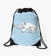 William Shakespeare's Star Wars: Exit, pursued by Wampa Drawstring Bag