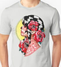 Dia De Los Muertos Sugar Skull Girl Tattoo Flash  T-Shirt