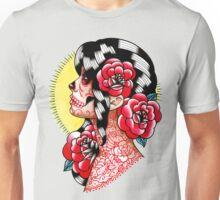 Dia De Los Muertos Sugar Skull Girl Tattoo Flash  Unisex T-Shirt