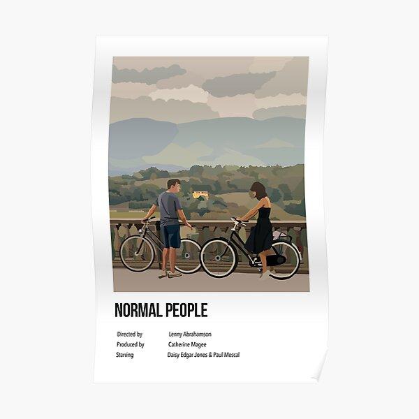 Gente normal ilustración cartel estilo Polaroid Póster