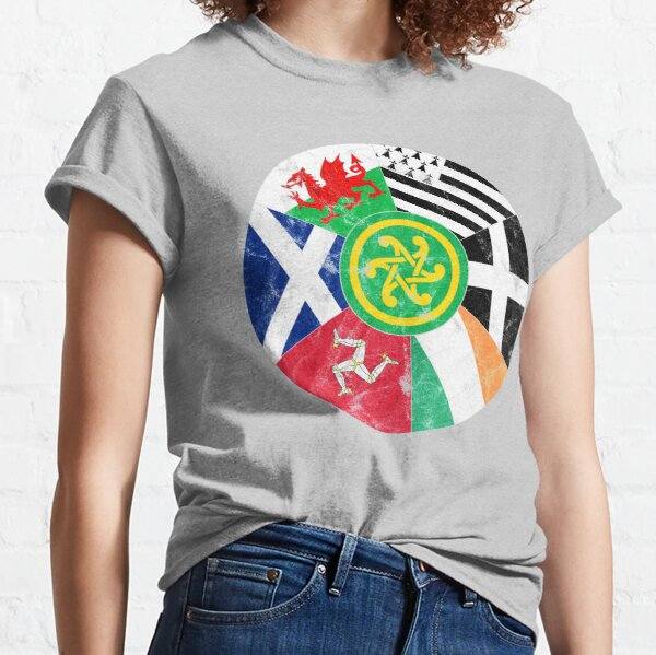 Celtic Nations Flags, Pan Celtic, Wales, Scotland, Ireland, Brittany, Cornwall, Isle of Man Classic T-Shirt