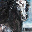 Dark Horse at Night by Nina Smart