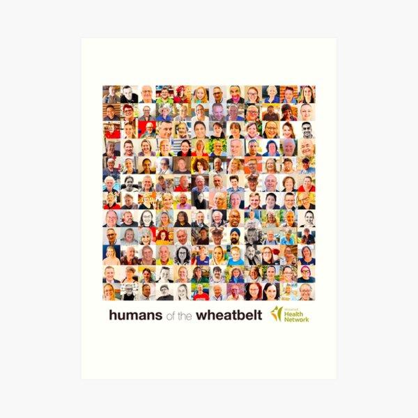 Humans of the Wheatbelt v7 Art Print