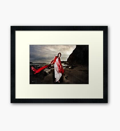 A dance of the blude red veil Framed Print