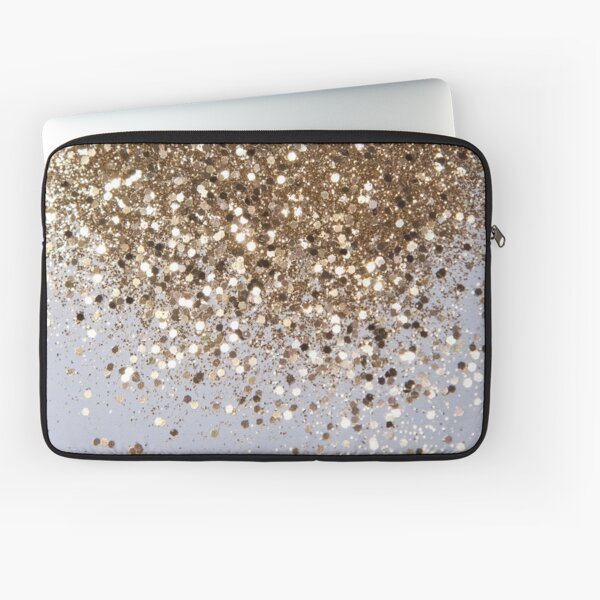 Sparkling Champagne Gold Glitter Glam #1 #shiny #decor #art  Laptop Sleeve