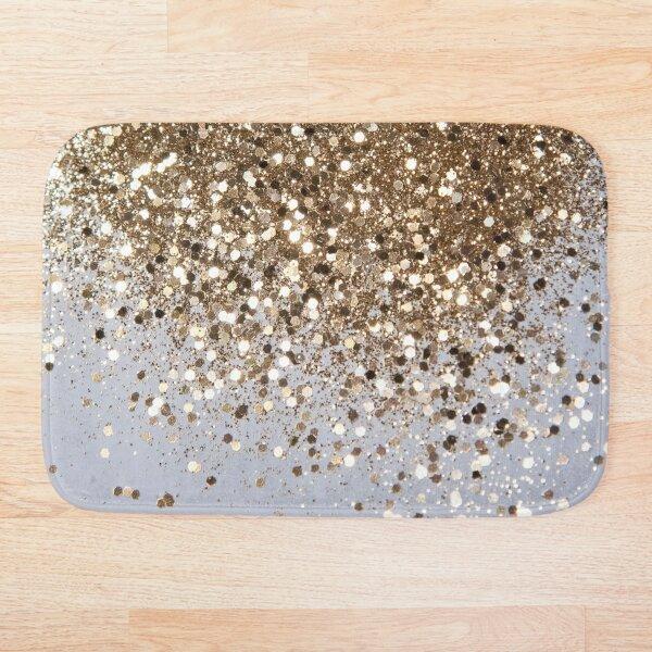 Sparkling Champagne Gold Glitter Glam #1 (Faux Glitter) #shiny #decor #art  Bath Mat