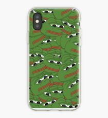 PEPE ALLOVER PATTERN SAD FROG MEME iPhone-Hülle & Cover