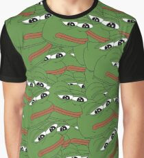 Camiseta gráfica PEPE ALLOVER PATTERN SAD FROG MEME
