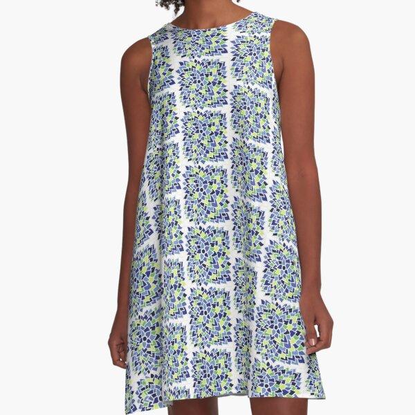 Blue Flower  A-Line Dress