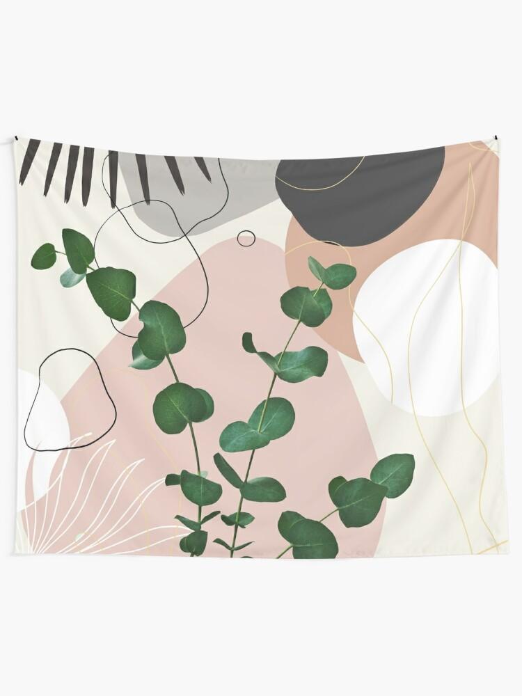 Alternate view of Eucalyptus Fan Palm Finesse #1 #tropical #decor #art Tapestry