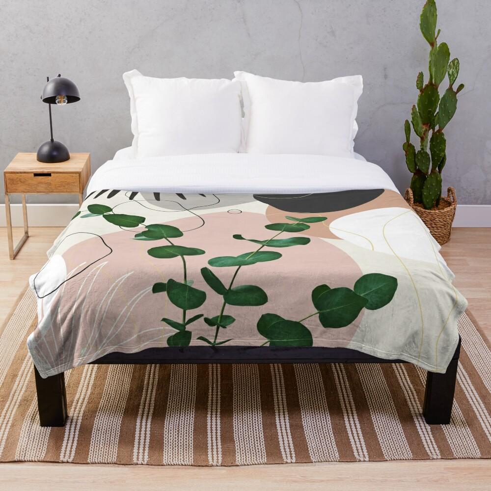 Eucalyptus Fan Palm Finesse #1 #tropical #decor #art Throw Blanket