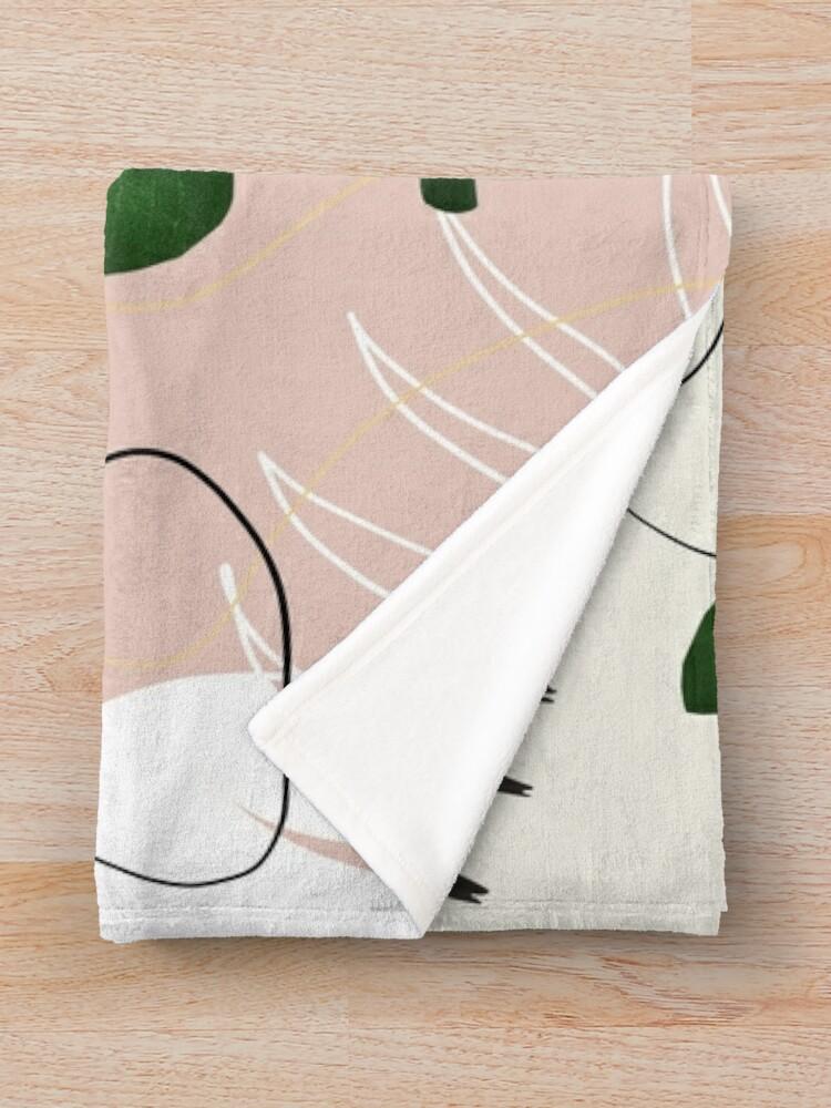 Alternate view of Eucalyptus Fan Palm Finesse #1 #tropical #decor #art Throw Blanket