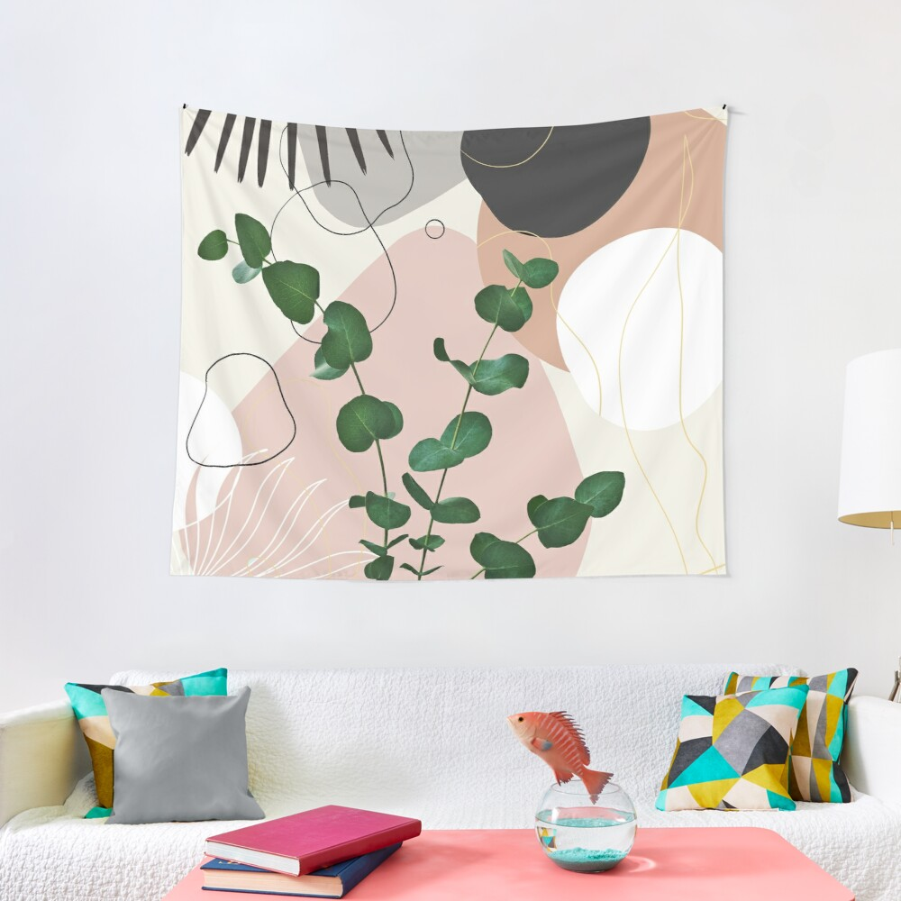 Eucalyptus Fan Palm Finesse #1 #tropical #decor #art Tapestry