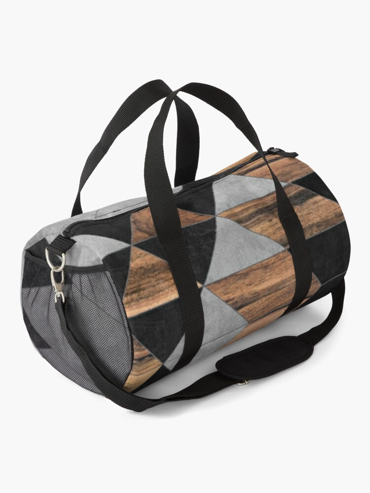 Alternate view of Urban Tribal Pattern No.10 - Aztec - Concrete and Wood Duffle Bag