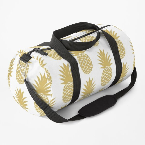Tropical Gold Pineapple Fruit On Shirts Bags And Home Decor Duffle Bag
