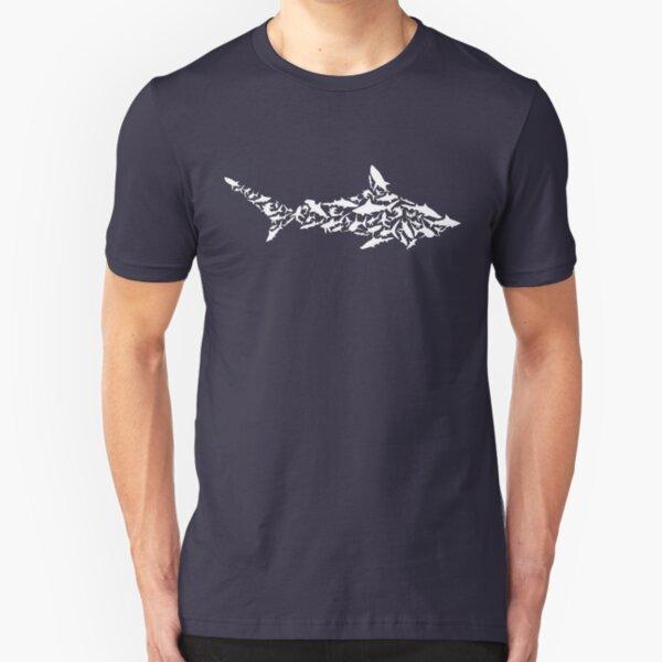 Shark Collage Slim Fit T-Shirt