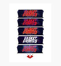 Caskets Comics Logo Photographic Print