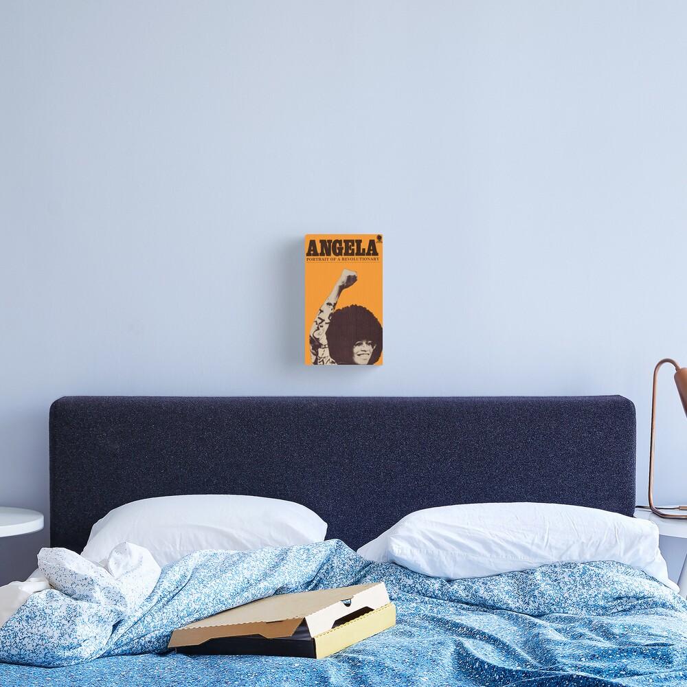 Impression sur toile «Angela Davis - Portrait d'un révolutionnaire»