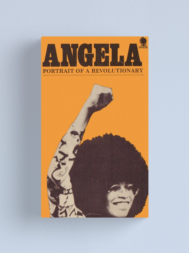 Impression sur toile ''Angela Davis - Portrait d'un révolutionnaire': autre vue