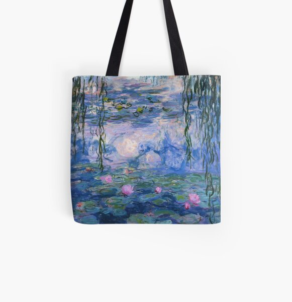 Claude Monet - Water Lilies All Over Print Tote Bag