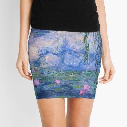 Claude Monet - Water Lilies Mini Skirt
