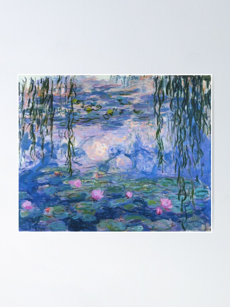 Alternate view of Claude Monet - Water Lilies Poster