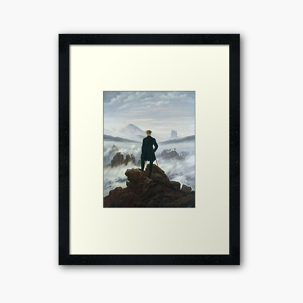 Caspar David Friedrich - The Wanderer Above The Sea Of Fog Framed Art Print