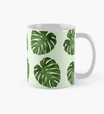 Palm Leaves, Leaf Pattern - Green Mug