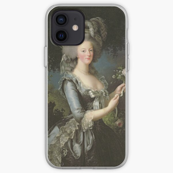Elisabeth Louise Vigee - Lebrun - Marie Antoinette (1755 ) With A Rose iPhone Soft Case