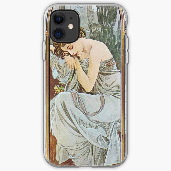Alphonse Mucha - Nocturnal Slumber iPhone Soft Case