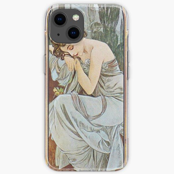 Alphonse Mucha - Nocturnal Slumber iPhone Soft Case