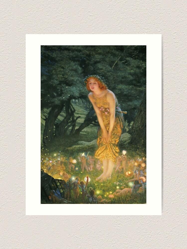 Alternate view of Edward Robert Hughes - Midsummer Eve Art Print
