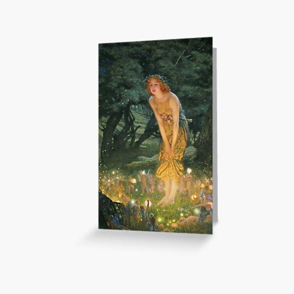 Edward Robert Hughes - Midsummer Eve Greeting Card