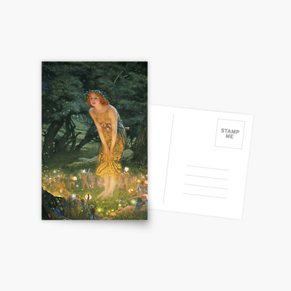 Edward Robert Hughes - Midsummer Eve Postcard