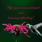 Hummingbird and Bee Balm by Randy Branham
