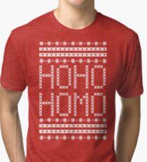 HO HO HOMO CHRISTMAS SWEATER Tri-blend T-Shirt
