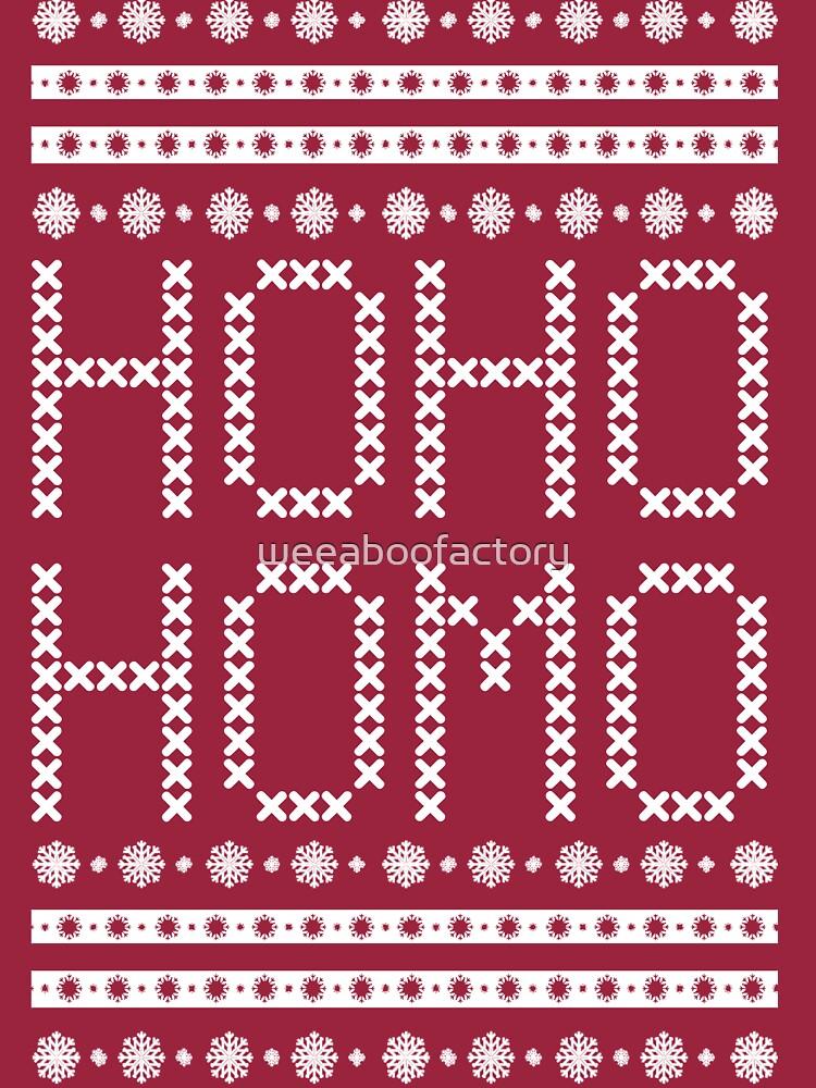 HO HO HOMO CHRISTMAS SWEATER | Long Sleeve