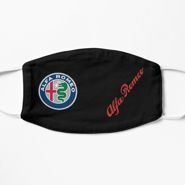 2015 Alfa Badge & Script-Color/Black Flat Mask