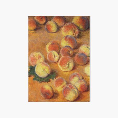 Claude Monet - Peaches Art Board Print