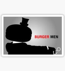 Burger Men Sticker