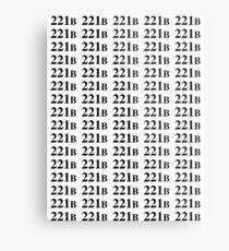 221B - Sherlock Metal Print