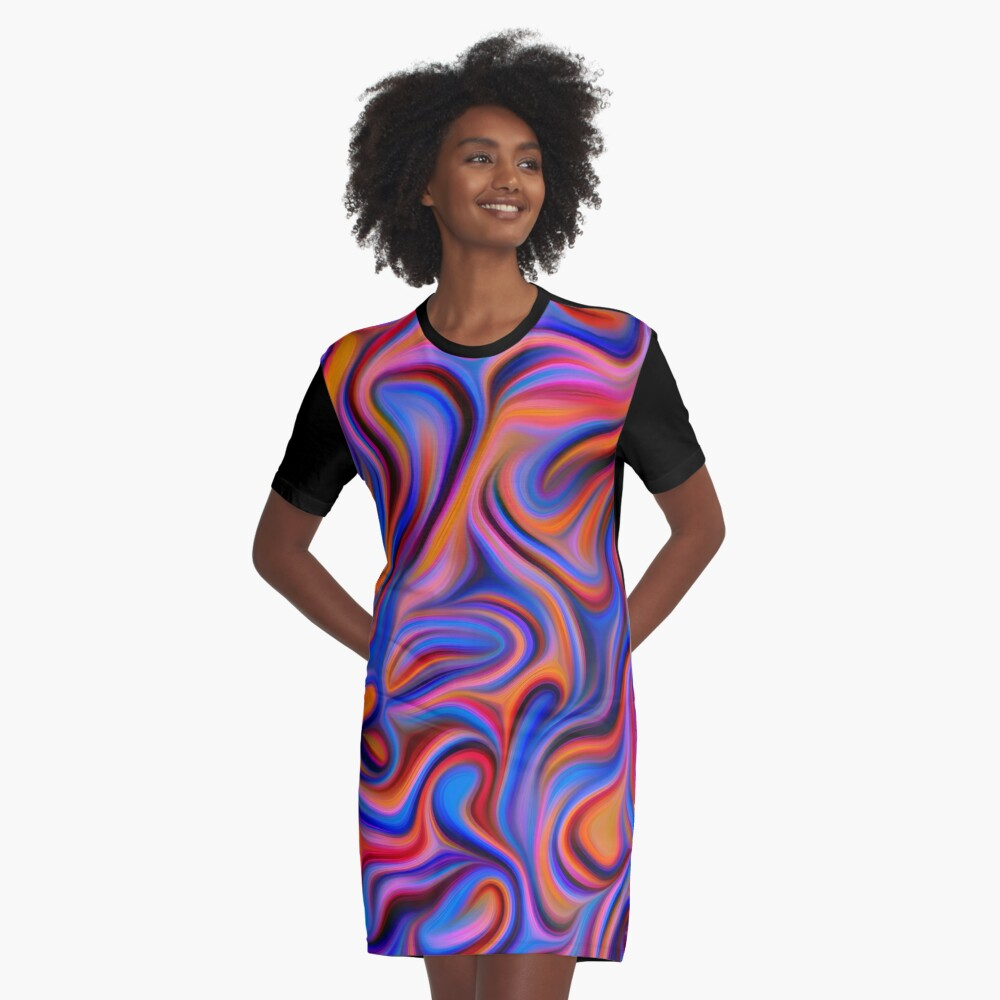 Abstractions of abstract abstraction Graphic T-Shirt Dress