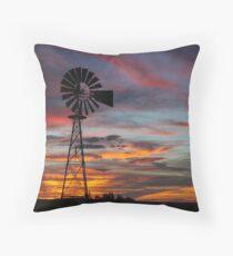 Windmill near Seligman, Arizona Throw Pillow