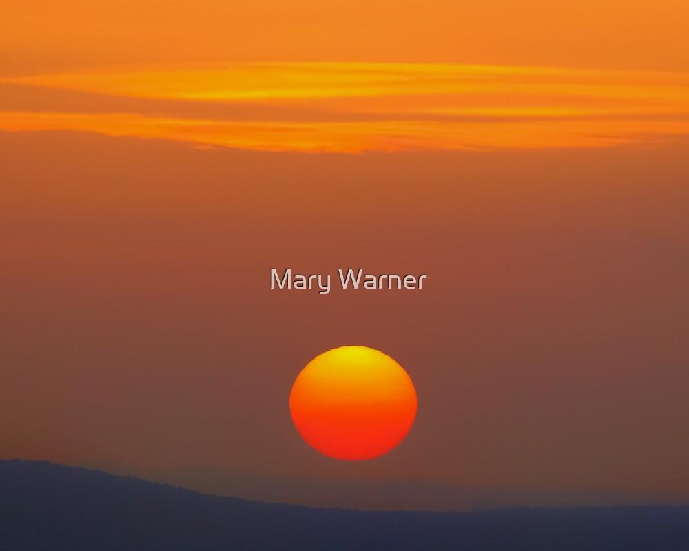 Red Ball of Sun - Seligman, Arizona by Mary Warner