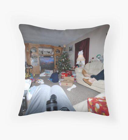.... later Christmas morning Throw Pillow